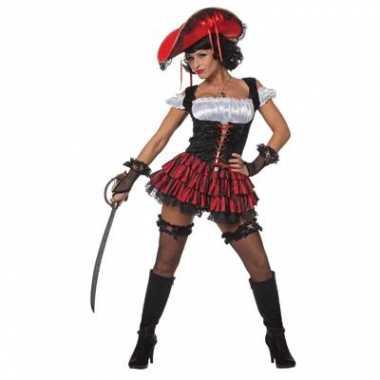 Carnavalskleding piraten jurk dames