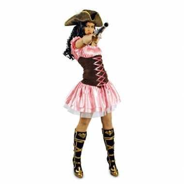 Carnavalskleding roze musketiersjurkje