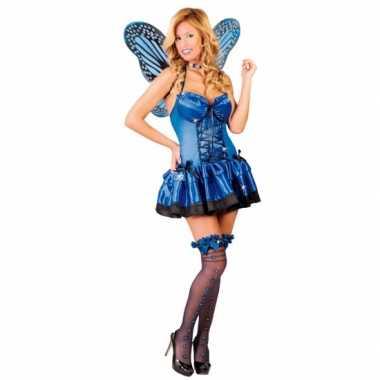 Carnavalskleding vlinder carnavalskleding blauw