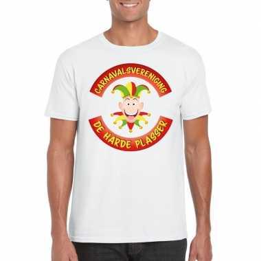 Carnavalsvereniging de harde plasser limburg heren t shirt wit