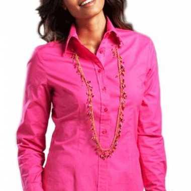 Casual fuchsia overhemd voor dames