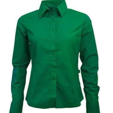 Casual groen overhemd voor dames