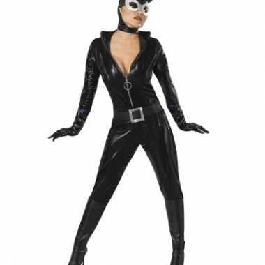 Catwoman carnavalskleding met masker