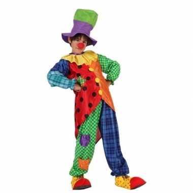 Clown stitches carnavalskleding voor jongens
