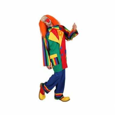 Clown verkleed carnavalskleding voor mannen