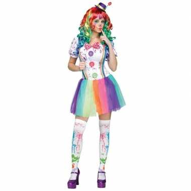 Compleet clowns carnavalskleding paint voor dames