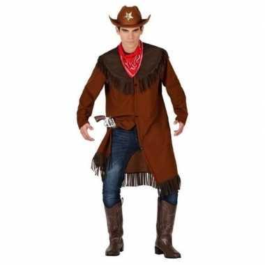 Cowboy/western jas verkleed carnavalskleding voor heren