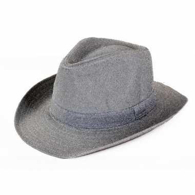 Cowboyhoed zilver glitter voor volwassenen