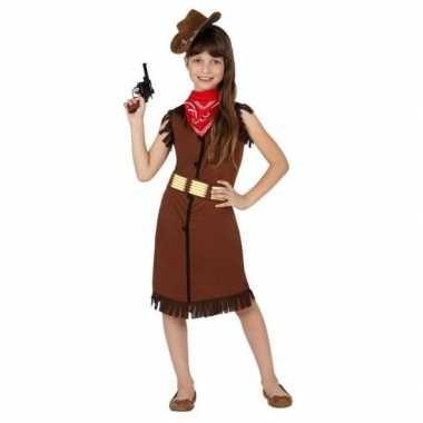 Cowgirl/cowboy carnavalskleding/jurk voor meisjes