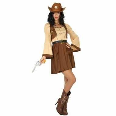 Cowgirl/cowboy cassidy verkleed carnavalskleding/jurk voor dames