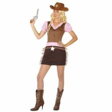 Cowgirl/western verkleed jurkje voor dames
