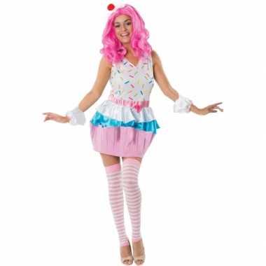 Cupcakejes carnavalskleding voor dames