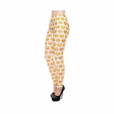 Dames party legging emoticons print