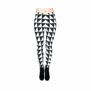 Dames party legging pied de poule print