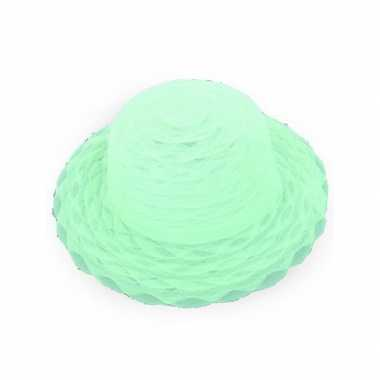 Dameshoed lime groen organza