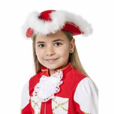 Dansmarieke hoed rood voor meiden
