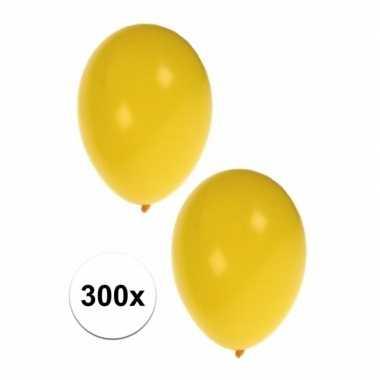 Decoratie ballonnen geel 300 stuks