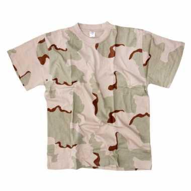 Desert camouflage t shirt korte mouw