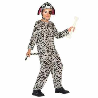 Dierenpak hond/honden verkleed carnavalskleding dalmatier voor kinder