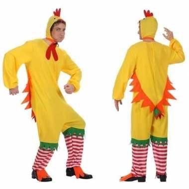 Dierenpak kip/haan/kuiken verkleed carnavalskleding voor volwassenen