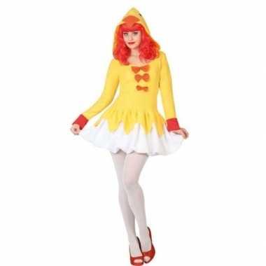 Dierenpak kip/kuiken verkleed jurk/carnavalskleding voor dames