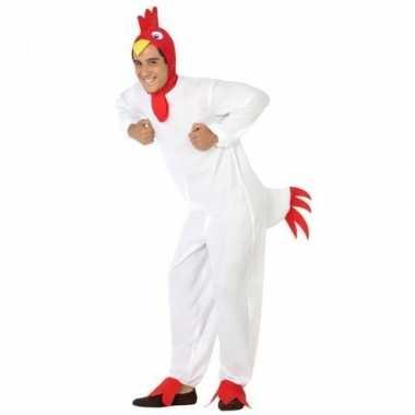 Dierenpak verkleed carnavalskleding kip/haan voor volwassenen