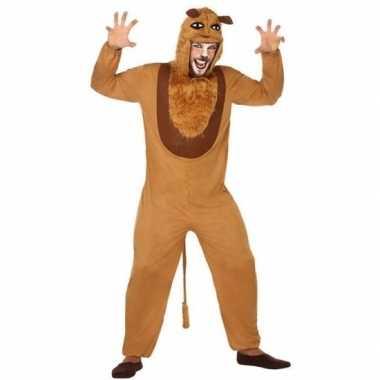 Dierenpak verkleed carnavalskleding leeuw voor volwassenen