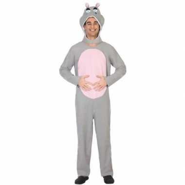Dierenpak verkleed carnavalskleding nijlpaard voor volwassenen