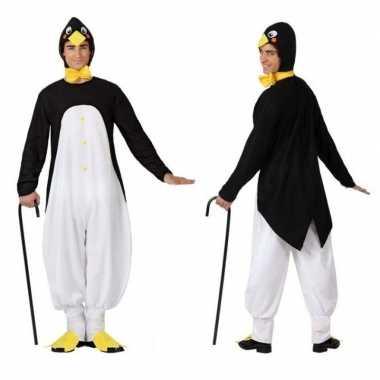 Dierenpak verkleed carnavalskleding pinguin voor volwassenen