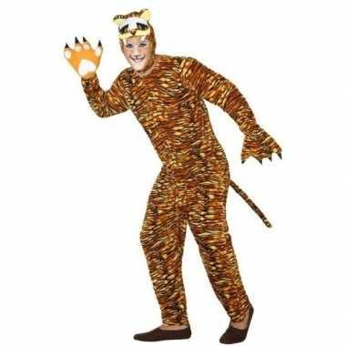 Dierenpak verkleed carnavalskleding tijger voor volwassenen