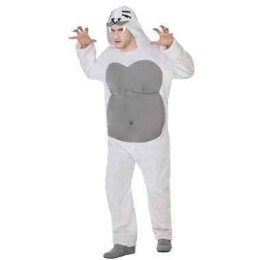 Dierenpak yeti verkleed carnavalskleding voor volwassenen