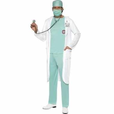 Dokter carnavalskleding met jas voor heren