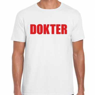 Dokter verkleed t shirt wit voor heren