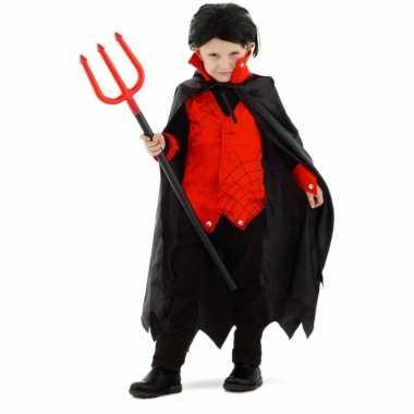 Dracula vampier verkleed carnavalskleding met cape voor kinderen