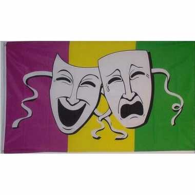 Drie kleuren vlag komedie en tragedie
