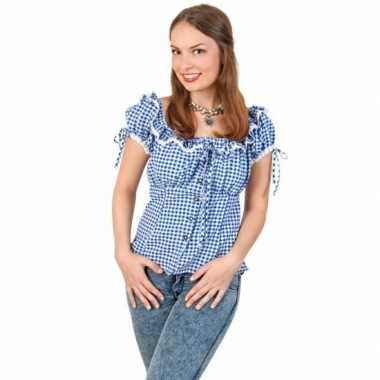 Duits dames overhemd blauw