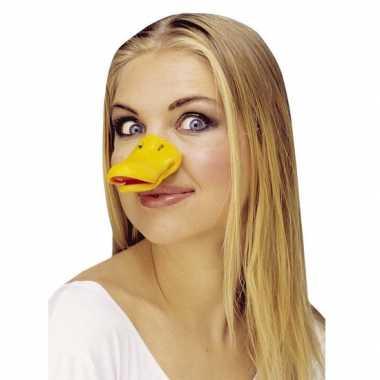 Eenden neus geel verkleed accessoire