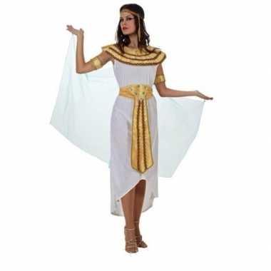 Egyptische farao cleopatra verkleed carnavalskleding/jurk wit voor da
