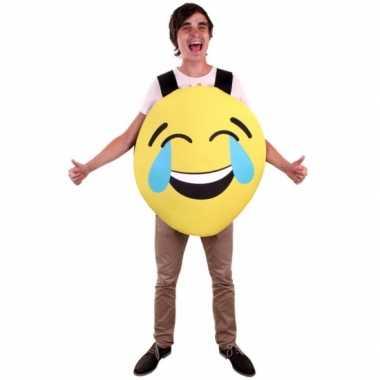 Emoticon carnavalskleding lachend voor volwassenen