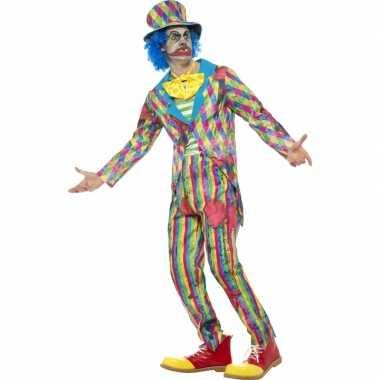 Eng horror clown carnavalskleding met streepjes