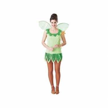 Fee carnavalskleding groen voor dames