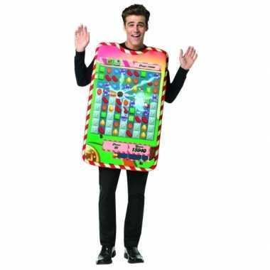 Feest candy crush verkleedcarnavalskleding voor volwassenen
