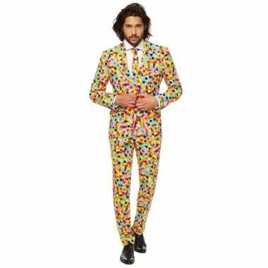 Feest carnavalskleding confetti voor heren