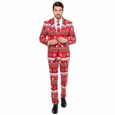 Feest carnavalskleding kerstmis print