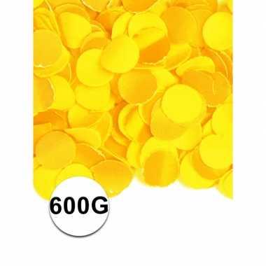 Feest confetti 600 gram geel