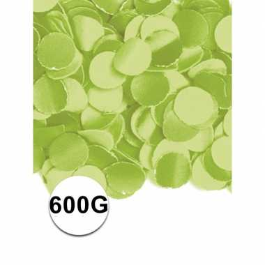 Feest confetti 600 gram lime