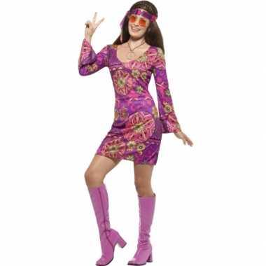 Feest hippie verkleedcarnavalskleding voor dames