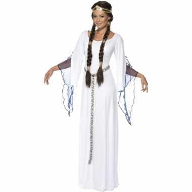 Feest middeleeuwse witte verkleedcarnavalskleding voor dames