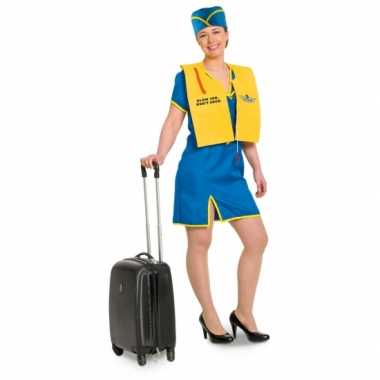 Funny stewardess carnavalskleding voor dames