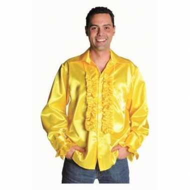 Geel Overhemd Heren.Geel Heren Overhemd Met Rouches Carnavals Winkel Nl